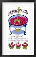 Framed Cherries Flambe