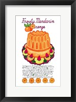Framed Frosty Mandarin Orange