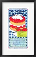 Framed Old Fashioned Strawberry Shortcake