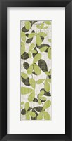 Green Leaves on Cream Framed Print