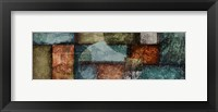 Rectangle Blue Velvet 1 Framed Print
