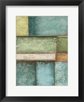 Rectangle  Blue Velvet II Framed Print