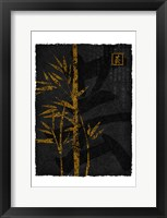Black Gold Bamboo 2 Framed Print