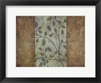RUSTIC LEAVES 1 Framed Print