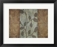 RUSTIC LEAVES II Framed Print