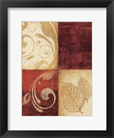 Red Decor By 4 Framed Print