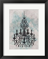 Chandelier  Splash Of Blue 1 Framed Print