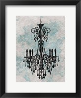 Chandelier  Splash Of Blue 2 Framed Print