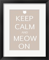 Keep Calm Cat Framed Print