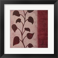 Purple Vine Trim Framed Print