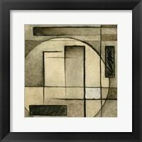 Brown Circle Box 1 Framed Print