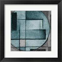 Modern Circles Mate Framed Print
