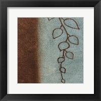 Brown & Blue Leaves I Framed Print