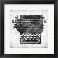 Framed Typewriter 2