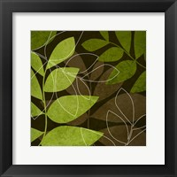 Framed Green Brown Leaves