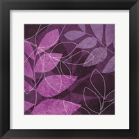 Purple Leaves Framed Print