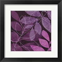 Framed Purple Leaves 2
