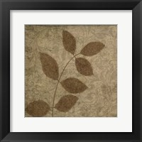 Vintage Leaves 3 Framed Print