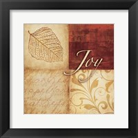 Red Gold Joy Framed Print