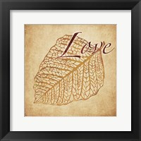 Red Gold Love Framed Print