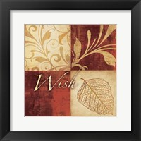 Red Gold Wish Framed Print