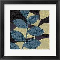 Scribble Leaves Mate Framed Print