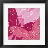 Framed Butterflys Pink