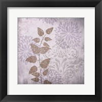 Warm Gray Flowers Framed Print