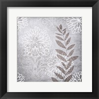 Warm Grey Flowers 6 Framed Print