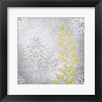 Warm Gray Flowers 3 Framed Print