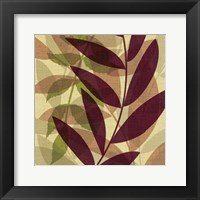 Purple Yellow Leaves Framed Print