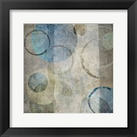 Stone Circles Blue Mate 1 Framed Print