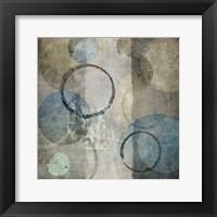 Stone Circles Blue Framed Print