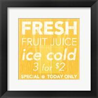 Fresh Juice Yellow Framed Print