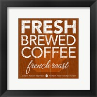 Fresh Brewed Red Orange Framed Print