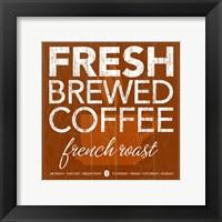 Fresh Brewed Red Orange Framed Print