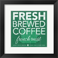 Fresh Brewed Teal Framed Print