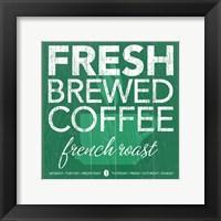 Fresh Brewed Teal Framed Print