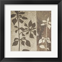 Neutral Leaves 1 Framed Print