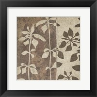 Neutral Leaves 2 Framed Print