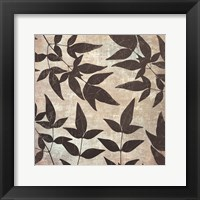 Leaves And Swirls Framed Print