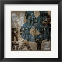 XYZ Framed Print