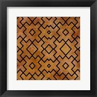 Framed Black on Brown Pattern