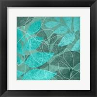 Framed Seafoam Leaves 1