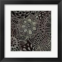 Framed Stencil Floral
