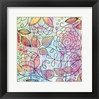 Shabby Floral A Bright Framed Print