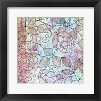 Shabby Floral B Framed Print