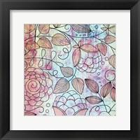 Shabby Floral B Bright Framed Print