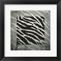 Framed Animal Instinct Zebra