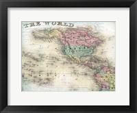 Framed World Map 6
